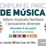 El 8 de juliol omplim de música el Parc Sanitari Sant Joan de Déu!