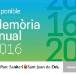 Memòria 2016 del Parc Sanitari Sant Joan de Déu