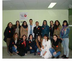 Un grup de residents d'infermeria en salut mental visita la UHPP