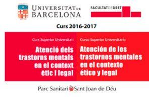 El Parc Sanitari i la Universitat de Barcelona engeguen un Curs d'extensió universitària el proper 6 d'octubre