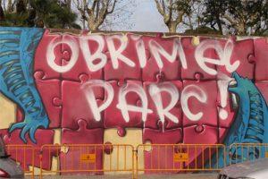 Pintada del mur del Parc Sanitari Sant Joan de Déu
