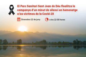 El 12 de juny finalitza la campanya d'un minut de silenci en homenatge a les víctimes de la covid-19