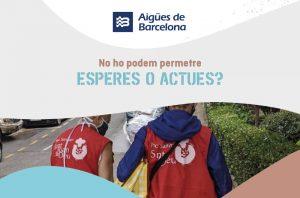 Aigües de Barcelona s'uneix a la campanya del Parc Sanitari Sant Joan de Déu per atendre persones en risc d'exclusió social arran de la covid-19